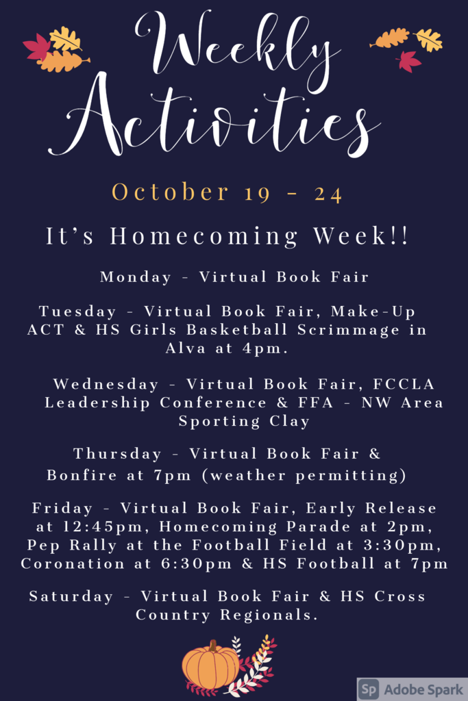 Weekly Announcements 10/19
