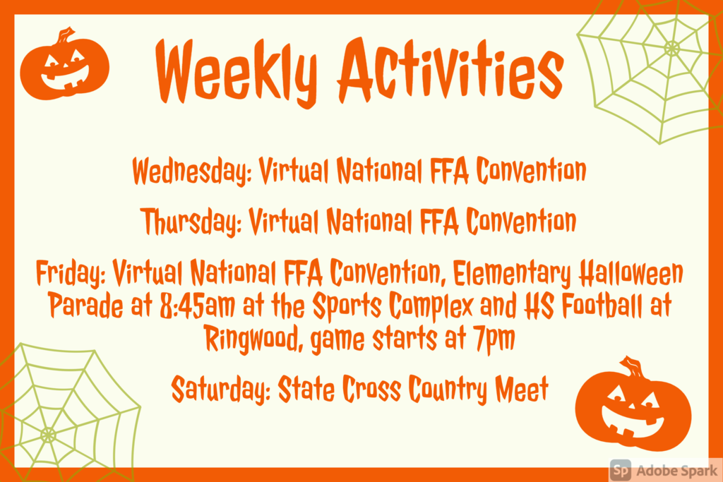Weekly Announcements 10/28
